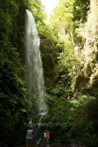 Cascadas del agua en la Palma (Canal de los Tilos)